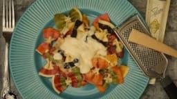 Farfalle multicolores sauce au parmesan et truffe