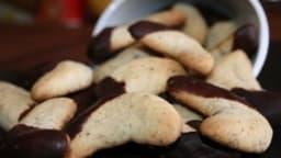 Demi-lunes à la noisette & au chocolat