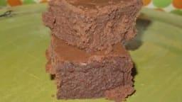 Brownie fondant aux châtaignes et au chocolat