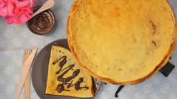 Crêpes au lait d'amande, saveur vanille, pâte à tartiner maison