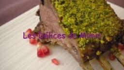 Carré d'agneau en croûte de pistache