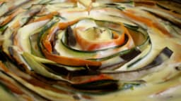 Tarte aux légumes spirale à la provençale