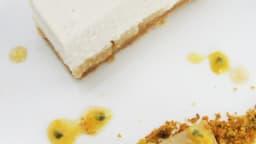 Cheese cake vanille et poires caramélisées