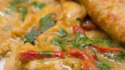 Omelette aux saveurs indiennes