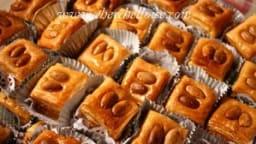 Baklawa aux amandes grillées
