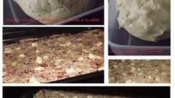 Ma pizza aux 3 fromages, pâte aux herbes de provence