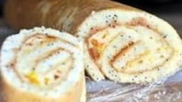Biscuit roulé aux graines de pavot
