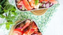 Taboulé Quinoa, Crevettes et Pamplemousse
