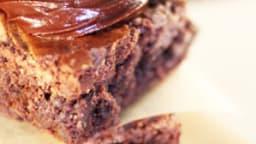 Brownie marbré à la mousse d'amandes