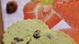 Sablés aux fraises séchées