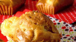 Muffins chèvre jambon