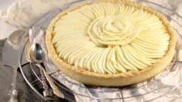 Tarte aux pommes, compote à la vanille