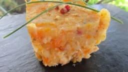 Ecrasé de pommes de terre et carottes à la truite