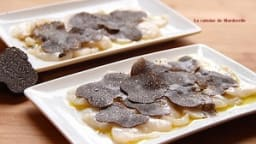 Carpaccio de Saint Jacques aux truffes