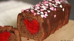 Cake surprise chocolat-framboise