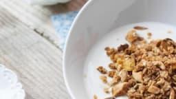 Granola coco et mangue séchée