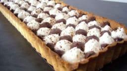 Tarte chocolat et noix de coco