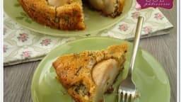 Gâteau poire, vanille et amande sans gluten