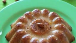 Gâteau de semoule parfumé et son caramel au gingembre