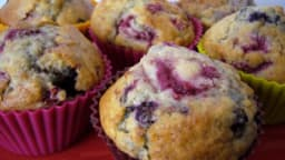 Muffins framboise & myrtille