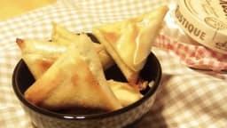 Samossas aux poireaux et camembert