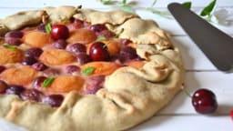 Tarte rustique cerise abricot