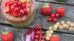 Soufflé glacé ou Parfait au chocolat, salade de fraises