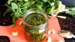 Pesto basilic et noix de cajou