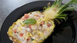 Salade d'espadon à l'ananas
