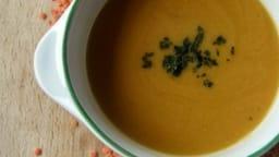 Soupe de carottes et lentilles corail au garam masala