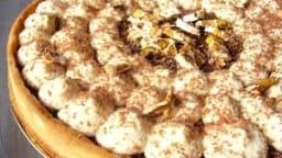 Tarte chocolat, caramel et cacahuète
