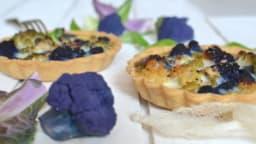 Tartelettes colorées aux deux choux-fleurs