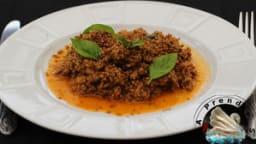 Quinoa au bœuf et sésames grillés