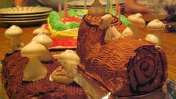 Bûche de Noêl aux marrons et au chocolat