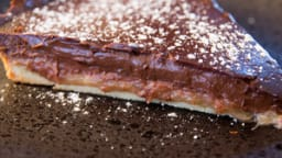 Tarte chocolat et rhubarbe