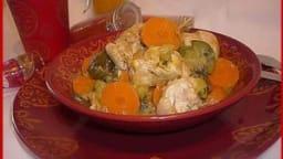 Blancs de poulet à l'orientale aux légumes