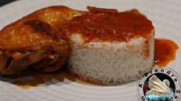 Cari de poulet et riz vapeur