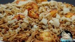 Spaghettis aux crevettes à l'italienne