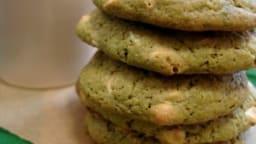 Cookies chocolat blanc et thé Matcha