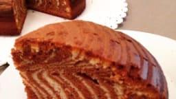 Zébra cake vanille chocolat