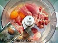 Chartreuse de poule faisane : la mise en place - Etape 1
