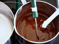 Tablage du chocolat noir - Etape 4