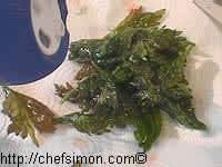 Feuilles de céleri frites - Etape 5