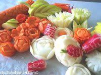 Sculpture de légumes - Etape 1