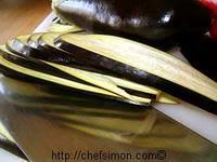 Tranches d'aubergines grillées - Etape 1