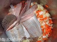 Soupe de poisson et sa rouille classique - Etape 1