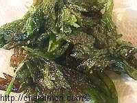 Feuilles de céleri frites - Etape 6