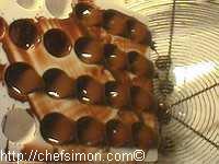 Moulage des chocolats fourrés - Etape 5
