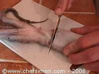 Préparation du poulpe - Etape 3