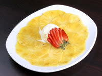 Carpaccio d'ananas exotique